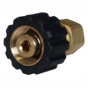 Ручное резьбовое соединение М22х1,5(Г) – 1/4″BSP(Г), 400бар, 150⁰С, D14мм