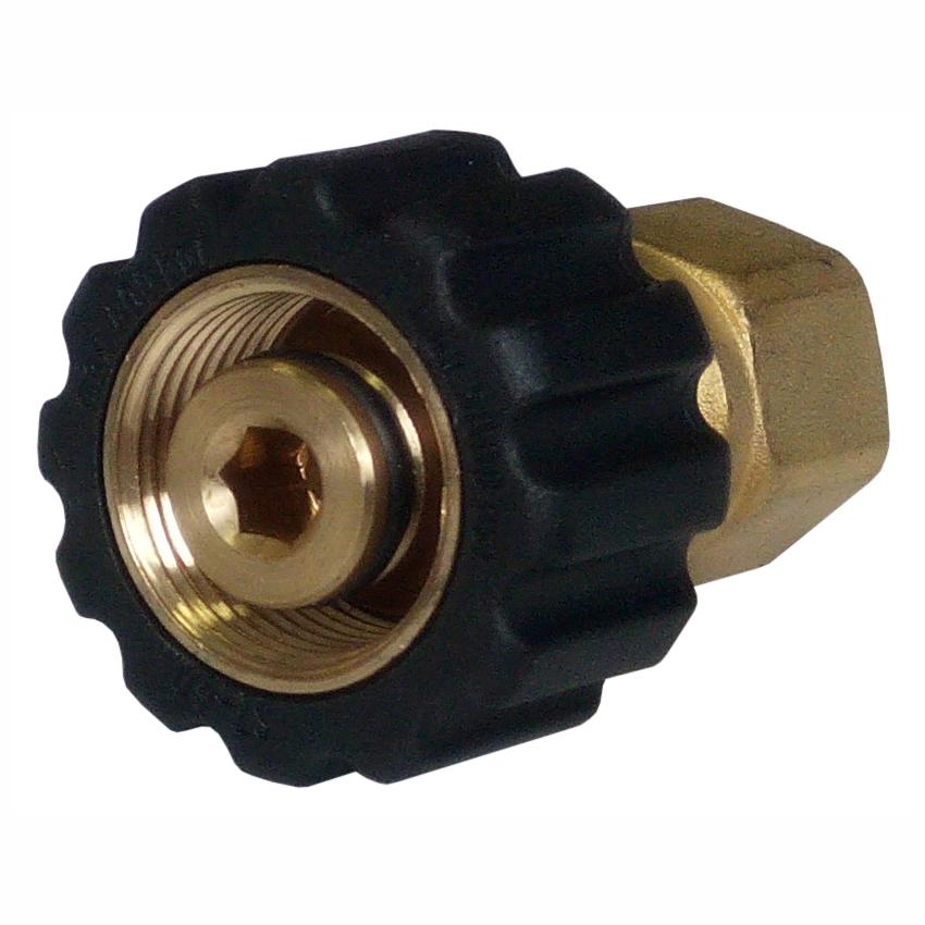 """Ручное резьбовое соединение М22х1,5(Г) - 1/4""""BSP(Г), 400бар, 150⁰С, D14мм"""