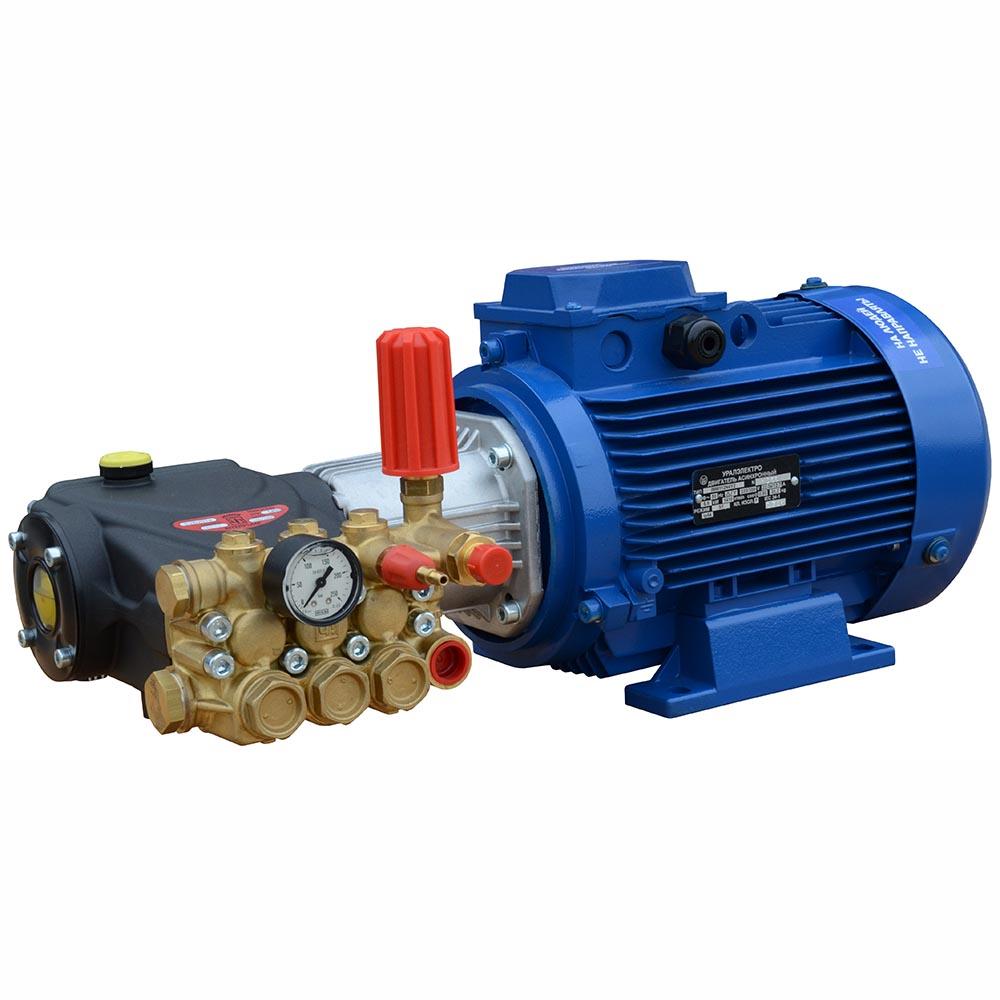Модуль мойки высокого давления ПОСЕЙДОН E7-250-15M2-IP под монтаж, 7,5 кВт, 250 бар, 15 л/мин, привод через муфту.