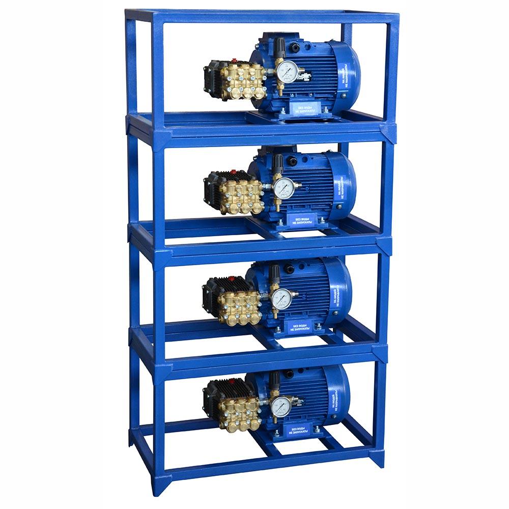 Мойка высокого давления ПОСЕЙДОН E5-200-15М7-IP 5,5кВт, 200бар, 14л/мин, привод через муфту, рама-стойка