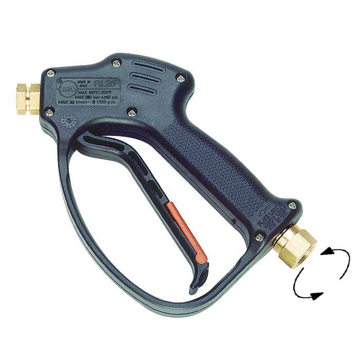 """Пистолет RL26, до 280бар 30л/мин 160°C, Вх.3/8""""BSP(Г) на вертлюге, Вых.1/4""""BSP(Г)"""