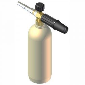 """Копье с емкостью для химии (1л) LS3 с быстроразъемным соединением ARS25 Н (""""A"""" Kw), форсунка 1,25мм вертикальная, до 160бар 20л/мин"""