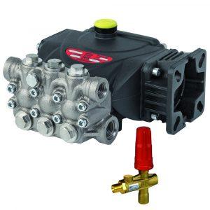 Насос EVO E1E1813C-VH, с рег.клапаном, 180бар, 13л/мин, 3400об/мин, 4,49кВт, с фланцем для ДВС (полый вал 3/4″), Interpump (Италия)