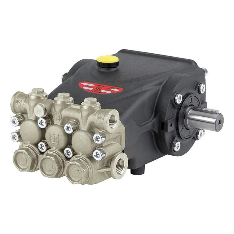 Насос EVO E3B2515, с никелерованной головкой, без рег.клапана, 250бар, 15л/мин, 1450об/мин, 7,13кВт (вал 24х40мм), Interpump (Италия)