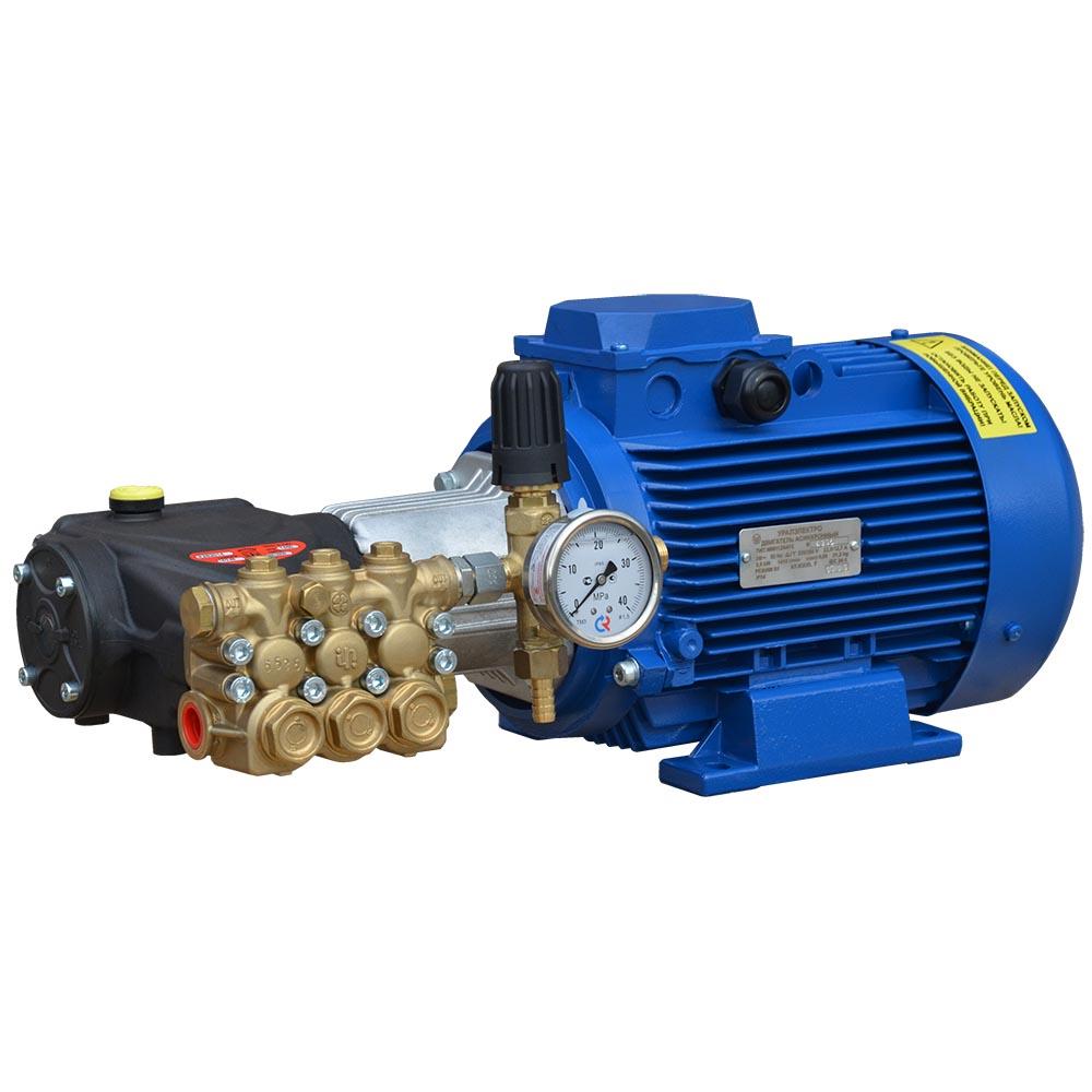 Модуль мойки высокого давления ПОСЕЙДОН E4-170-15М2-IP под монтаж, 4,0 кВт, 170 бар, 14,5 л/мин, привод через муфту.