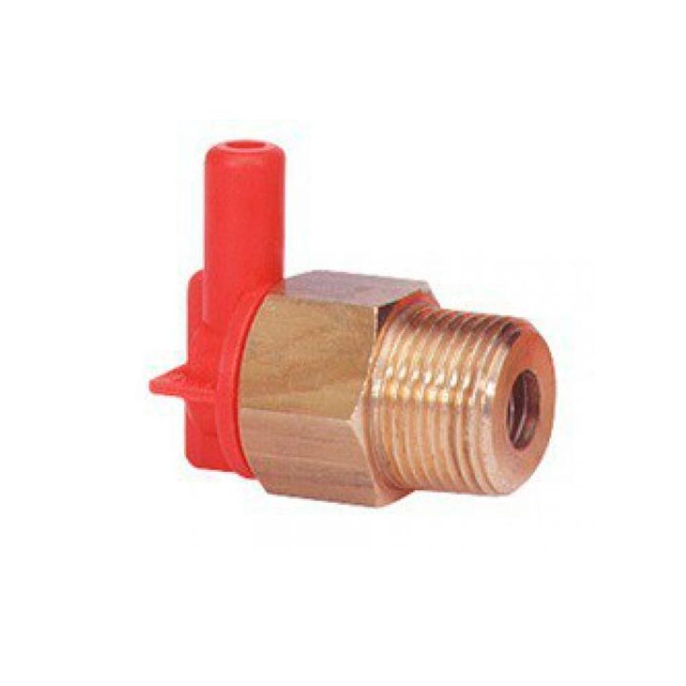 "Терморегулятор VT6, до 63ºC, до 10бар, присоединение 1/2""BSP(Ш), штуцер шланга 7мм, латунь/пластик"