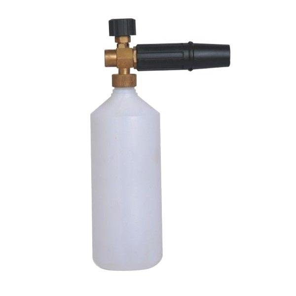 """Пенонасадка с емкостью для химии 1л, с регулятором дозировки, форсунка 1,25мм, сопло вертикальное, присоединение 1/4""""BSP(Г), до 220 бар 21 л/мин"""